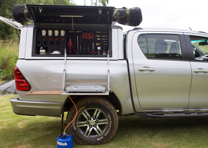 RSI SMARTCANOPY® - Toyota Hilux Canopy REVO - DCab - Chromium Silver - Canopies Made From Stainless Steel